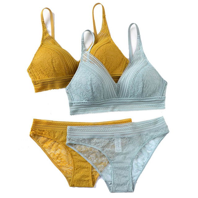 CINOON New Women Lingerie Sexy Embroidery Lace Underwear Sets High Quality Bra Set 3/4 Cup Brand Sexy Intimates Bra & Brief Set 5
