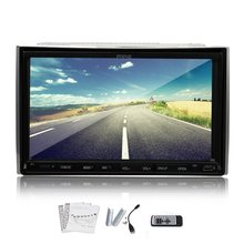 Double din Auto Radio Bluetooth Car DVD Touch Screen 7 Inch Car DVD Player GPS Navigation Video Stereo+ Free MAP+Bluetooth