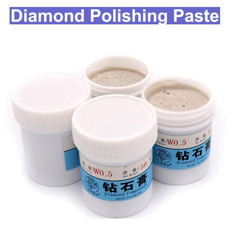 URANN W0.5-W40 Diamond Abrasive Paste Grinding Polishing Paste Lapping Compound Jade Alloy Metal Polishing Paste 50g/Box