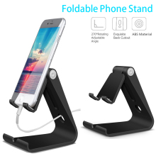 Adjustable Cell Phone Stand Desk for Universal Phone Multi-Angle Foldable Cell Phone Holder for All iPhone iPad Android Phone