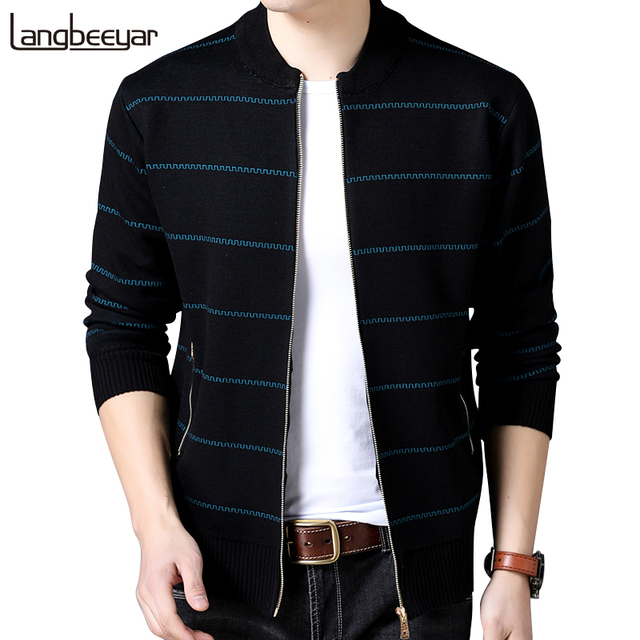 2019 New Fashion Brand Clothing Jacket Men Casual Mandarin Collar Mens Coat Pockets zipper Contrast Color Mens Jackets And Coats