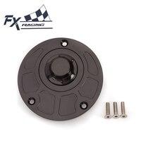 FXCNC Aluminum Motorcycle Fuel Tank Gas Cap Cover Keyless For Yamaha YZF R1 R6 R25 R3 R15 FZ1 FZ6 FZ8 FZ16 XJ6 XT660 XJR 1300