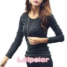 цена на Laipelar 2018 New Blinking Tshirt Women Shiny T-shirts For Women Fashion Long-sleeve T Shirt Woman Plus Size Female T-shirt