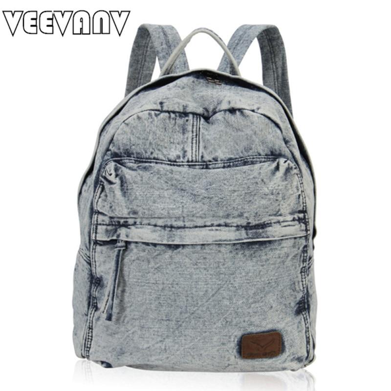 2017 VEEVANV Canvas Women Backpack Female Travel Bags Jeans School Backpack Laptop Backpack for Girls Vintage Shoulder Bag Brand александрова наталья николаевна мышеловка для бульдога