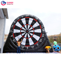 4m height PVC tarpaulin good inflatable foot darts cheap price soccer dart amusement park inflatable football dart for sale