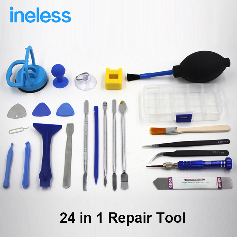 24 in 1 Mobile Phone Repair Tools Kit Spudger Pry Opening ...