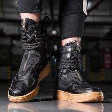 Супер крутые кроссовки унисекс в Звездном стиле; мужские ботильоны на молнии; botas Masculina; кроссовки; chaussure homme; уличные ботинки с высоким берцем