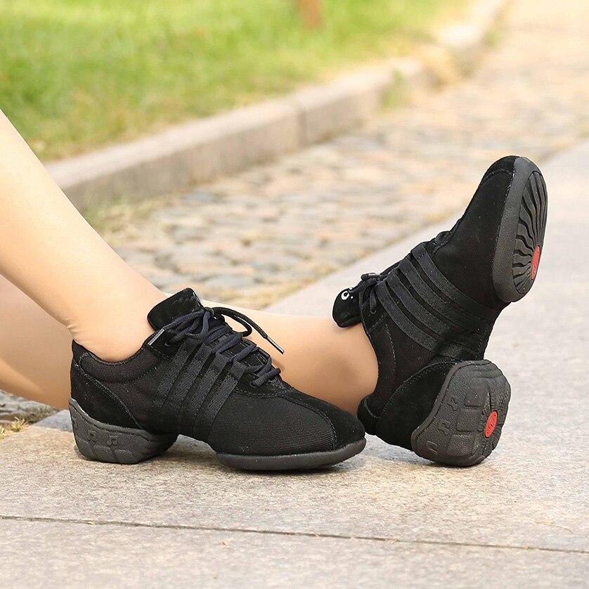 USHINE T01 Calitate respiratorie Lace Up Dance Pantofi de dans Pantofi de fitness Lightweight Modern Jazz Ballet Dance Adidas Femeie