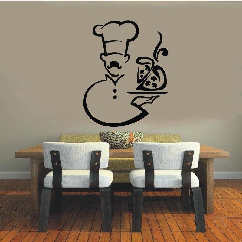 Wall Decal Vinyl Sticker Cook Chef Houseware Art Murals Design Interior Modern Cafe Dining Room Kitchen Wall Poster Decor WW-372