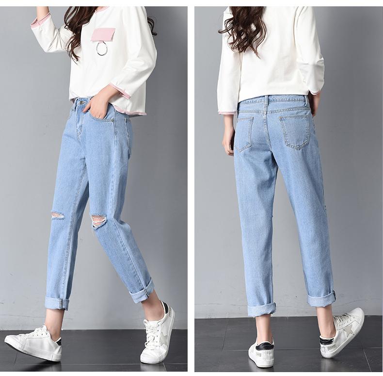 HTB1d66FSpXXXXckXXXXq6xXFXXXS - Women High Waist Jeans Ripped Solid JKP127