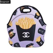 Freies verschiffen AAA qualität Thermische Isolierte Neopren Lunchpaket für Frauen Kinder Lunchbags Mit Reißverschluss Lunch Box