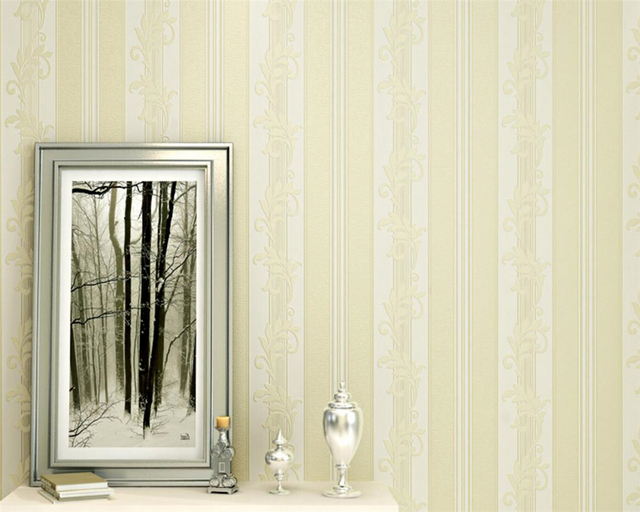 beibehang deluxe wallpaper bedroom embossed strips 3d wallpaper