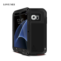 LOVE MEI Powerful Metal Case For Samsung Galaxy S7 G9300 G930 Aluminum Armor Shockproof Life Waterproof