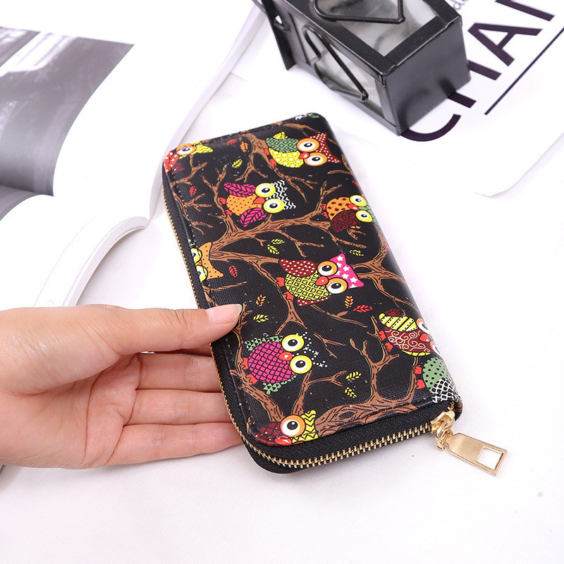 Ladies Wallet Cartoon Animal Prints Zipper Multi Card Bit Lovely Beautiful Special Elegant Hand Grab Bag