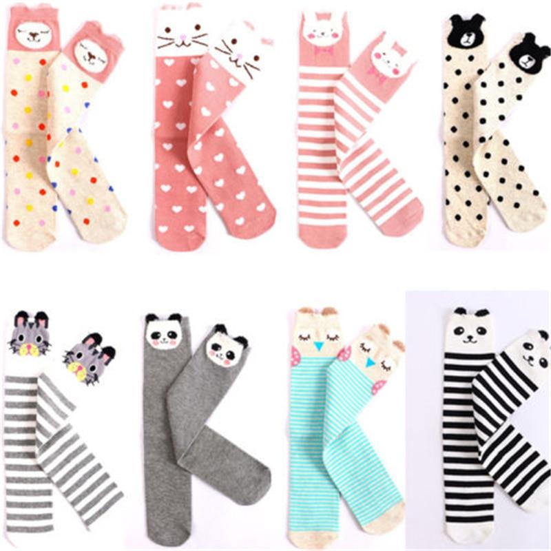 Hot Sale Baby Long Socks High Quality Children Kawaii 3D Cartoon Animal Warm Sock 2017 New Bebes Cotton Over Knee High Long Sock