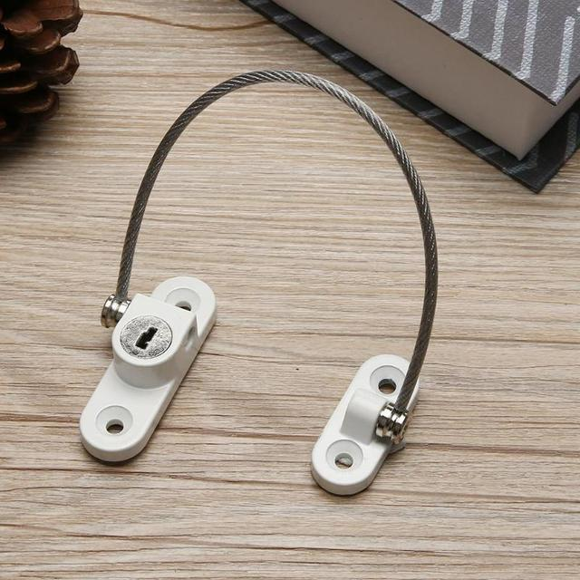 Door Restrictor Chain Cable Window Safety Opening Restrictors Screwfix Security