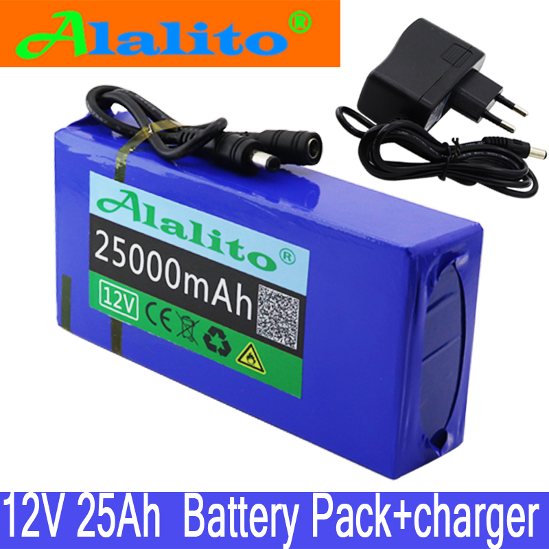 Lithium-Ion-Battery-Pack 25000mah-Battery Super-Rechargeable Portable DC 25ah 12v