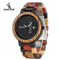 часы мужские BOBO часы с птицами мужские Новые поступления бамбуковые деревянные часы для показа даты кварцевые мужские подарочные в деревян...