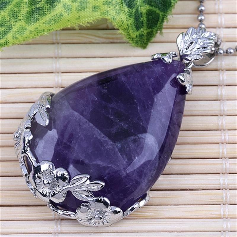 Ayliss Top venta 1 unid piedra natural gema púrpura con - Bisutería - foto 4