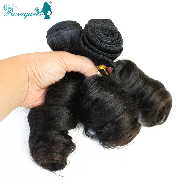 7A Top Quality Peruvian Virgin Hair Extensions Bouncy Curl Human Hair Weave Hair Romance Curl 3 Pcs/Lot Rosa Queen Hair Products