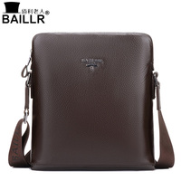 BAILLR 2017 Brand 100 Genuine Leather Men S Crossbody Bag Casual Business Mens Messenger Bag Real