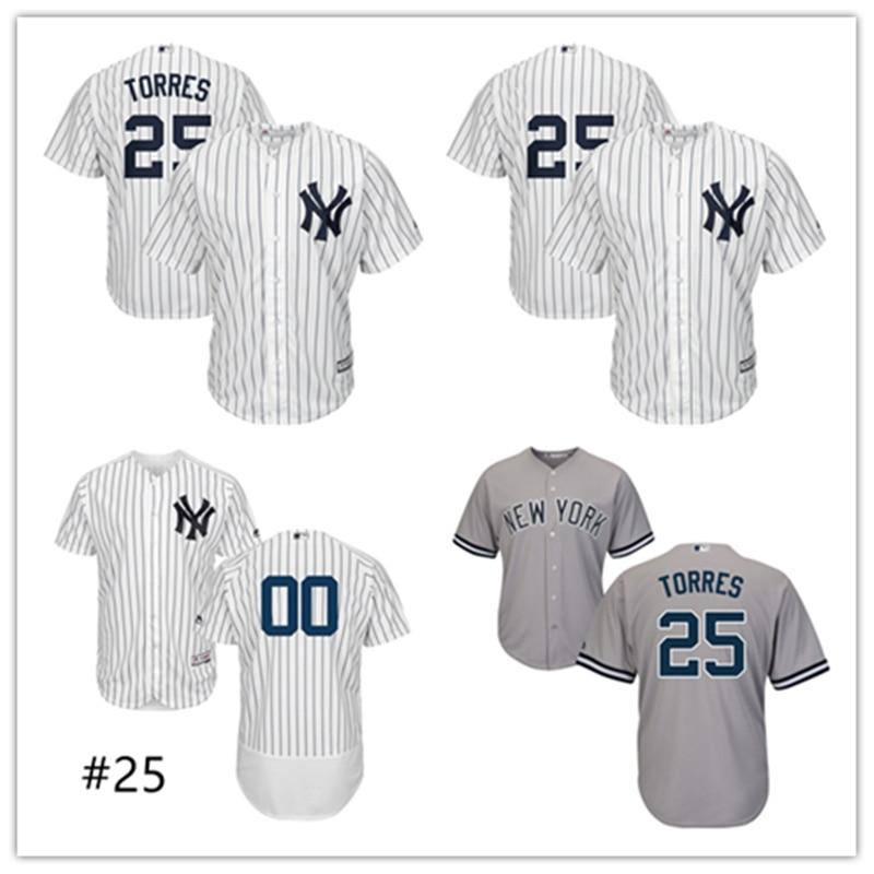 110d5d5b9 Férfi New York Yankees Gleyber Torres Jersey MLB   25 Fehér   Navy ...