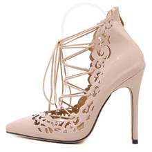 Pointed sexy super high heels wedding shoes Four color into