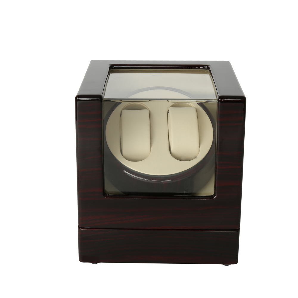 Luxury Watch Winder ,LTCJ Wooden Automatic Rotation 2+0 Watch Winder Storage Case Display Box (RW) ultra luxury 2 3 5 modes german motor watch winder white color wooden black pu leater inside automatic watch winder