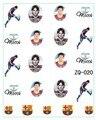 2015 20 hoja/LOT Lionel Messi Copa Mundial de la Bandera ETIQUETA del AGUA DEL ARTE DEL CLAVO Accesorios Fútbol Serie Del Tatuaje Del Clavo, 22 diseño Diferente
