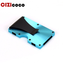 купить New Men Women Credit Card Holder Anti Protect Blocking Rfid Wallet Portable ID Cardholder Clip Travel Metal Case дешево