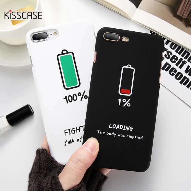 930bad3aec KISSCASE Couple Phone Case For iPhone 6 6s 7 8 Plus Cover Cute Valentine  Battery Pattern Case For iPhone 6 6s 7 8 Plus Back Case