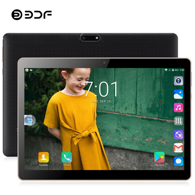 BDF 2019 Tablet 10 Inch Android 7.0 Tablet Pc 4GB/32GB IPS Tablet Android Bluetooth WiFi Quad Core Dual SIM Card Pc Tablet 10.1