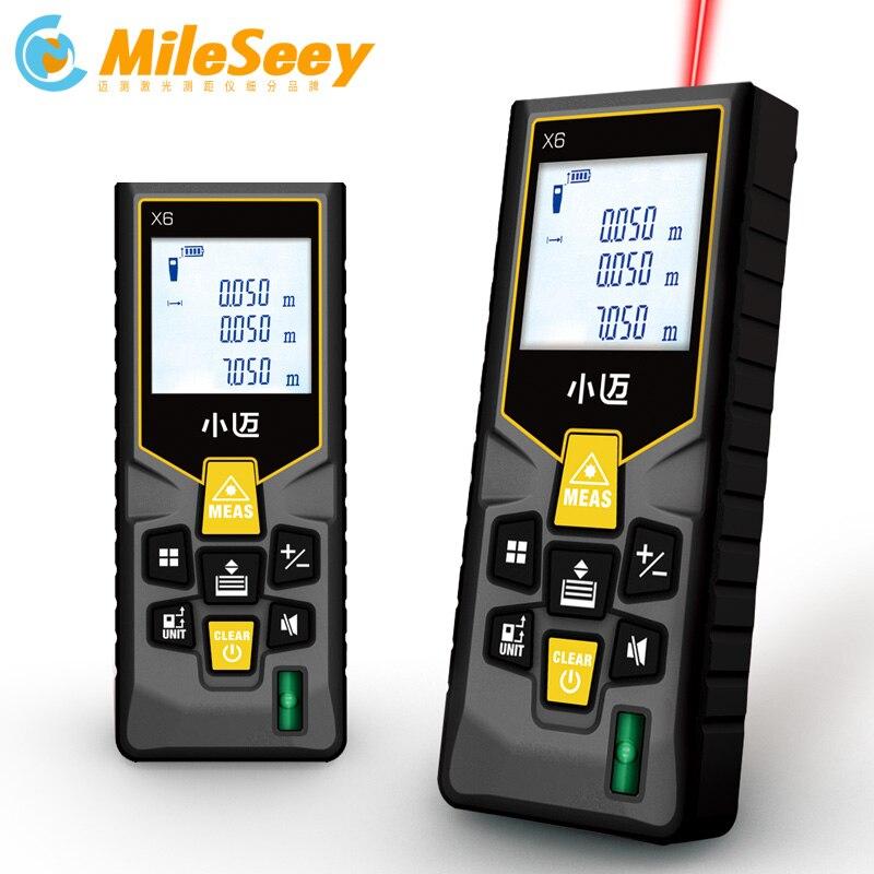 Mileseey Mini mètre de distance laser ruban à mesurer niveaux à bulles outil de télémètre laser Distance de télémètre
