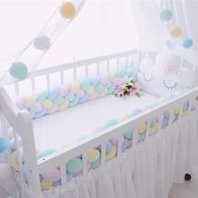 200 см Детские накладка на перила кроватки четыре слоя плетеные плюшевые детские кроватки протектор младенческой кроватки бампер для детской комнаты украшения