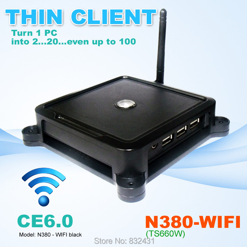 PC Share Station Thin Client 32 Bit N380W ( TS660W ) CE6.0 Embedded System PC Station with USB Port Wifi Printer