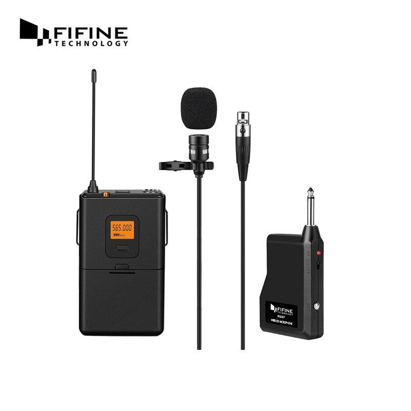 fifine k037 u segment wireless microphone lapel clip mic voice amplifier for computer teaching. Black Bedroom Furniture Sets. Home Design Ideas