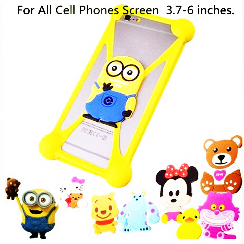 Cute Cartoon Silicone Universal Cell Phone Cases Fundas Umi emax mini Cover Capa  -  3C Store store