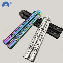 Outdoor Dull Blade Metal Training Knife Practice Tool Trainer Butterfly