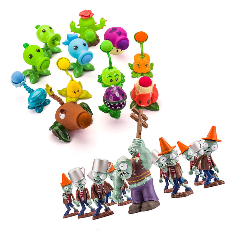 Toy Plant Vs Zombie Toy Legal Strategies Can Launch  Pea Shooter Metal Bucket Barricades Toys for Children Kid Toys ActionToy Plant Vs Zombie Toy Legal Strategies Can Launch  Pea Shooter Metal Bucket Barricades Toys for Children Kid Toys Action