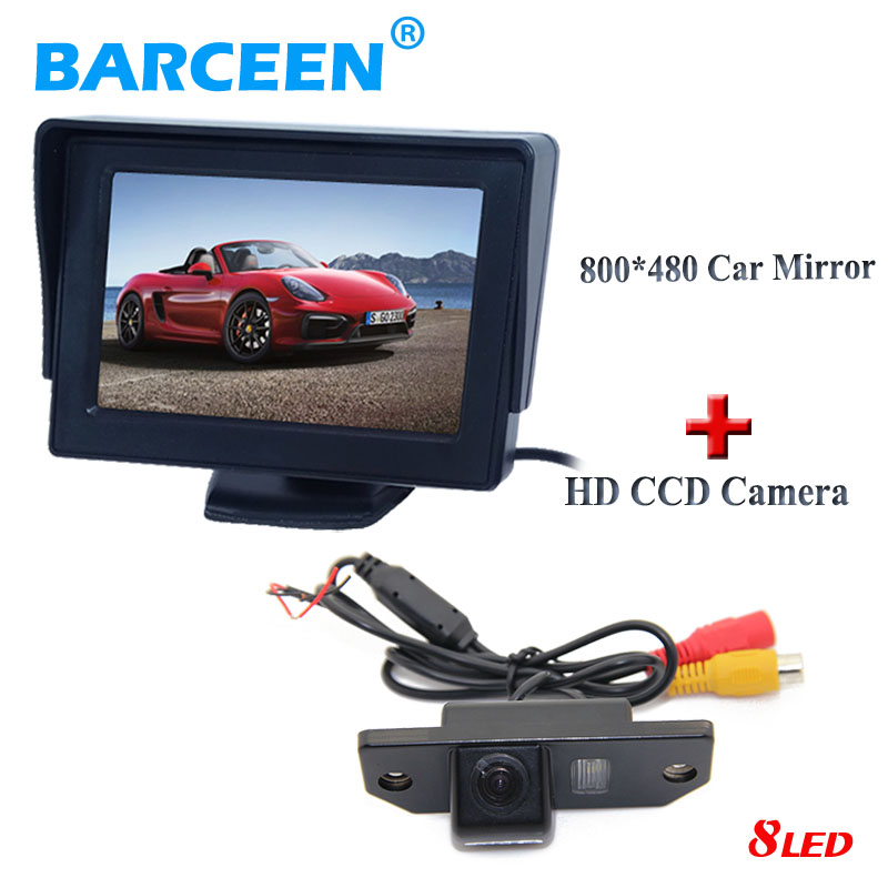 170 wide lens angle car rear-view camera +4.3 car parking monitor use for Ford Focus Sedan  C-MAX  MONDEO