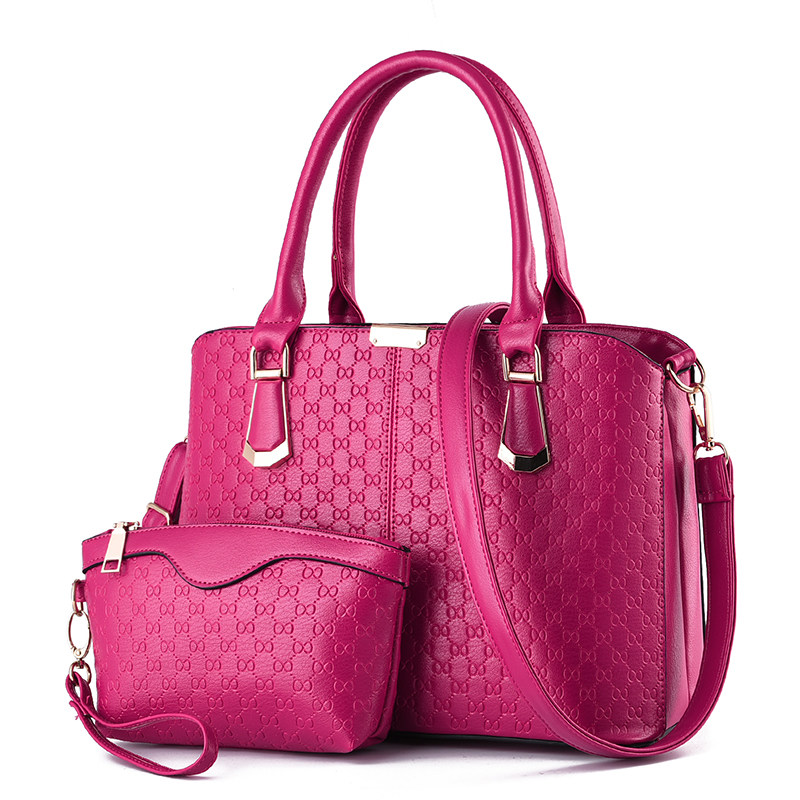 Occident Style Elegant Classy Composite Bag Women Succinct Plaid font b Handbag b font Fashion Embossing
