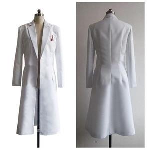 Image 2 - Steins Gate Chaqueta larga de Cosplay, chaqueta blanca