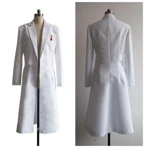 Image 2 - Steins Gate Okabe Rintarou Cosplay Costume Coat Long Jacket White Jacket costume