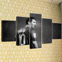 5 Piece Totti AS Roma Serie A Canvas Printed Painting For Living Picture Wall Art HD