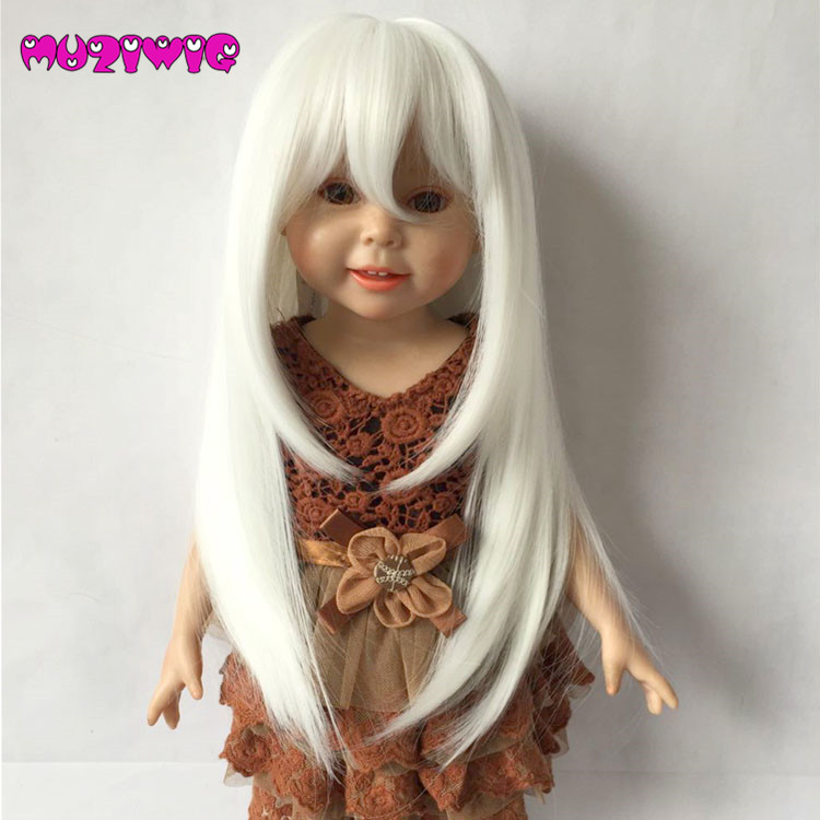 Dolls Accessories Creative Dolls Accessories Straight Wig For 18 Inch American Bjd Sd Dolls Hair Diy Making & Repair Supplies Doll Wigs Products Are Sold Without Limitations Dolls & Stuffed Toys