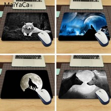 Animals Grayscale Wolves Funny Custom Mouse Pad for Size 18*22cm and 25*29cm