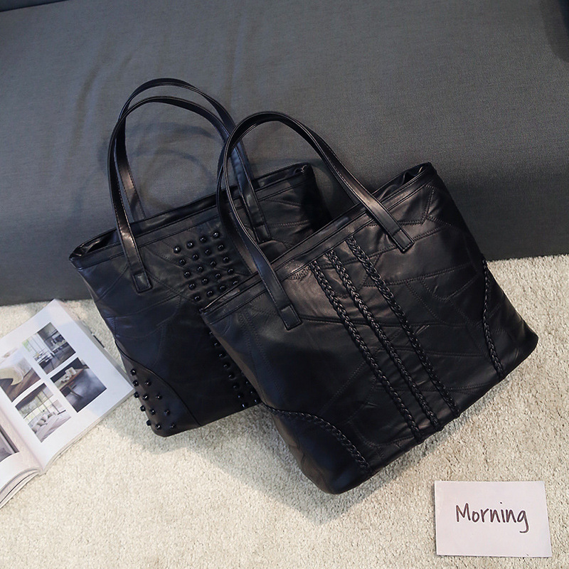 Genuine Leather Luxury Women Handbag Designer Patchwork Sheepskin Women Bag Fashion Shoulder Bag Casual Tote Bag luxury genuine leather bag fashion brand designer women handbag cowhide leather shoulder composite bag casual totes