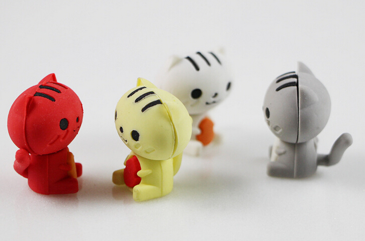 New Arrival Cute Cat Eraser School Eraser Animal Eraser  MOQ 35 Pieces Per Lot