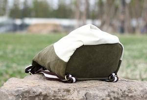 Image 4 - Nuovo stile nazionale di modo della tela di canapa zaino portatile borsa delle signore di sacchetto di spalla del Burlone borsa studente