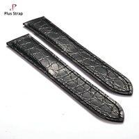 Bất Crocodile Genuine Leather Watch Strap đối Cartier Tank SOLO Phụ Nữ và Nam Giới Đồng Hồ Phụ Kiện Dây Đeo Cổ Tay không có Khóa